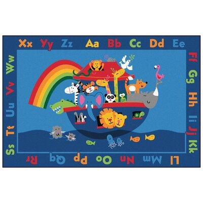 Value Plus Noahs Alphabet Animals Area Rug Rug Size: 8 x 12