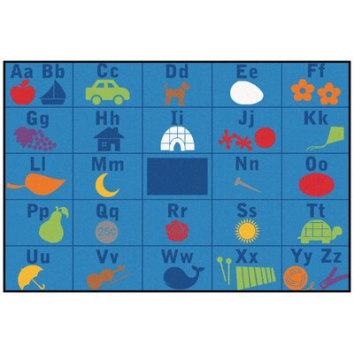 Value Plus Alphabet Seating Area Rug Rug Size: 8 x 12