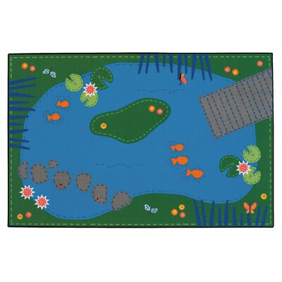 Value Plus Tranquil Pond Area Rug Rug Size: 8 x 12