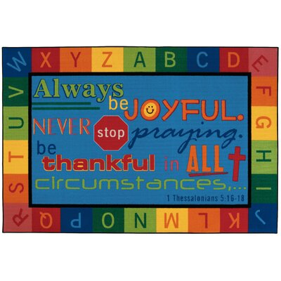 Value Plus Always be Joyful Circletime Area Rug Rug Size: Rectangle 8 x 12