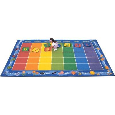 Theme Calendar Area Rug Rug Size: 84 x 134