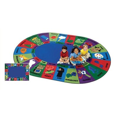 Emilion Dewey Decimal Fun Area Rug Rug Size: Oval 83 x 118