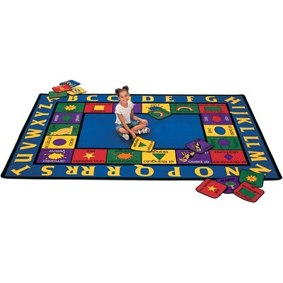 Bilingual Spanish Kids Area Rug Rug Size: Rectangle 84 x 118