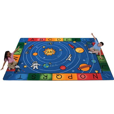 Printed Milky Play Literacy Area Rug Rug Size: 84 x 118