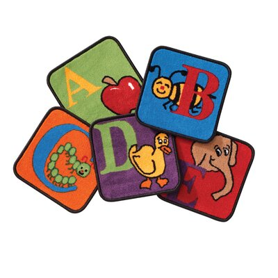Reading By The Book Squares Alphabet Area Rug Rug Size: Square 12