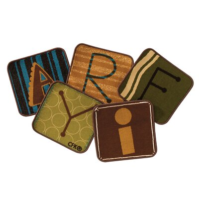 Toddler Alphabet Blocks Squares Nature Area Rug Rug Size: Square 14