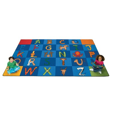 Carpet Kits Printed A to Z Animal Cup Pile Area Rug
