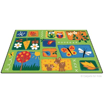 Emerado Natures Toddler Area Rug Rug Size: 6 x 9