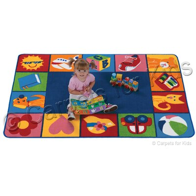 Emerado Toddler Blocks Area Rug Rug Size: 6 x 9