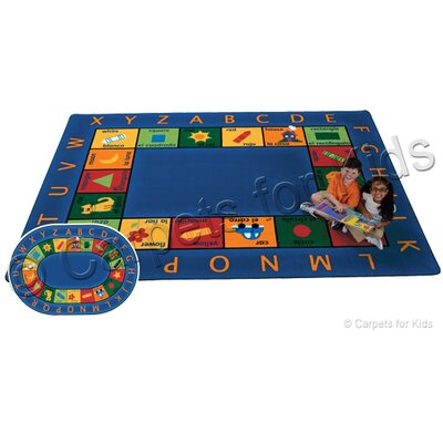 Printed Bilingual Circletime Area Rug Rug Size: Oval 69 x 95