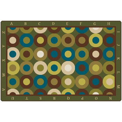 Calming Circles with Alphabet Kids Rug Rug Size: 8' x 12'