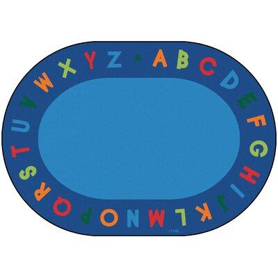 Circletime Bule Alphabet Primary Area Rug Rug Size: Oval 83 x 118