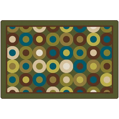 Calming Circles Natures Colors Kids Area Rug Rug Size: Rectangle 8 x 12