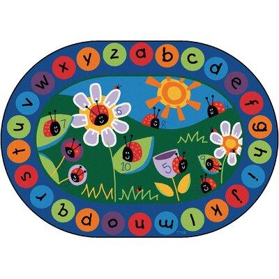 Circletime Ladybug Area Rug Rug Size: Oval 83 x 118