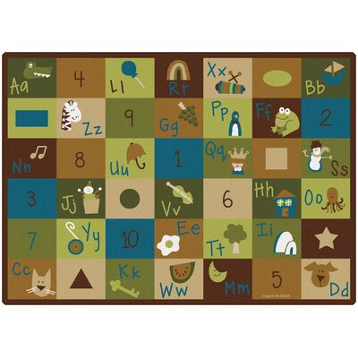 Learning Blocks Nature Kids Area Rug Rug Size: Rectangle 45 x 510