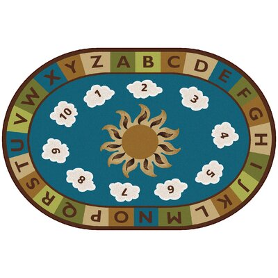 Sunny Day Learn and Play Kids Rug Rug Size: Oval 4 x 6