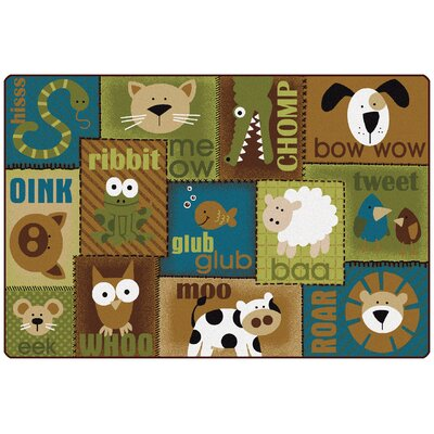 Animal Sounds Kids Rug Rug Size: 6 x 9