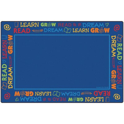 Read to Dream Border Kids Area Rug Rug Size: 8 x 12