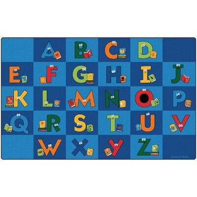 Reading Letters Library Kids Area Rug Rug Size: 84 x 134