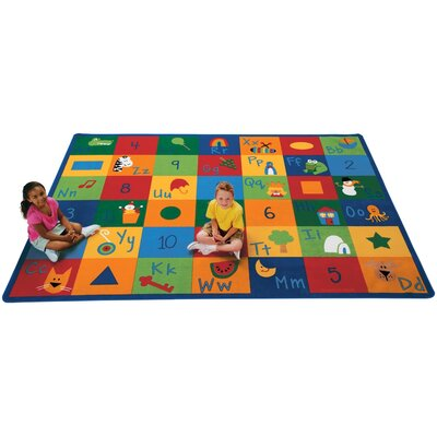 Printed Learning Blocks Area Rug Rug Size: 84 x 118