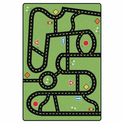 Emerado Drive and Play Green Area Rug Rug Size: 28 x 4