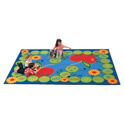 Literacy ABC Caterpillar Kids Area Rug Rug Size: 84 x 118