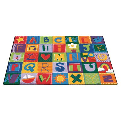 Toddler Alphabet Blocks Area Rug Rug Size: 4 x 6