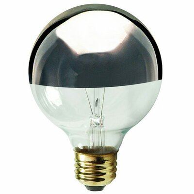 Gray/Smoke E12/Candelabra Incandescent Light Bulb Wattage: 25W