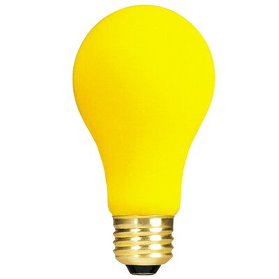 Yellow 130-Volt Incandescent Light Bulb (Set of 18) Wattage: 60W