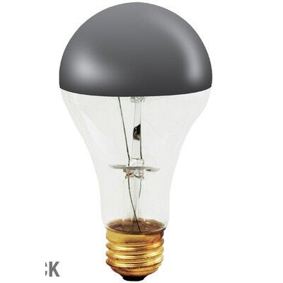 Half Chrome 100W A Shape Incandescent Bulb (Set of 2)