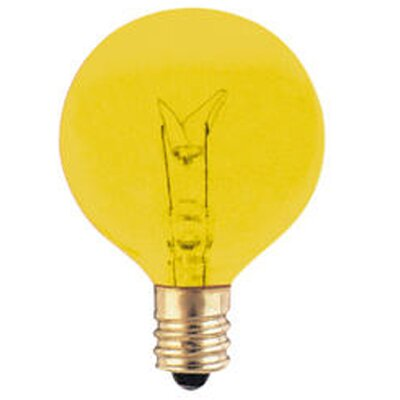 120-Volt (2700K) Incandescent Light Bulb (Set of 43) Color: Amber, Wattage: 10W