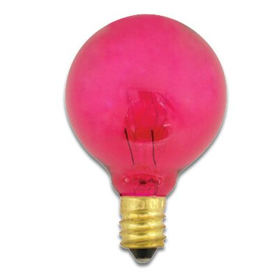 120-Volt (2700K) Incandescent Light Bulb (Set of 43) Color: Pink, Wattage: 10W