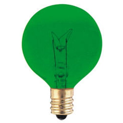 120-Volt (2700K) Incandescent Light Bulb (Set of 43) Color: Green, Wattage: 10W