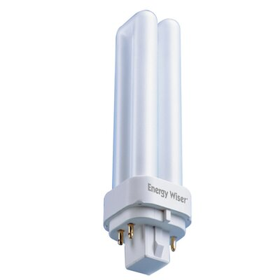 Frosted G24d-1 Compact Fluorescent Light Bulb (Set of 10) Wattage: 18W, Bulb Temperature: 3000K