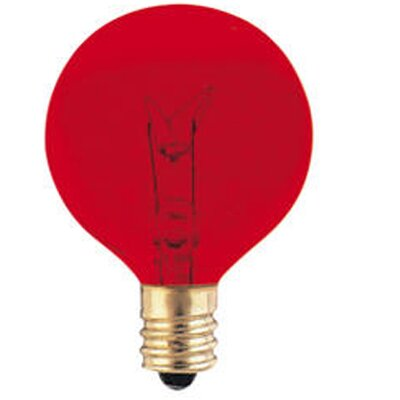 120-Volt (2700K) Incandescent Light Bulb (Set of 43) Color: Red, Wattage: 10W
