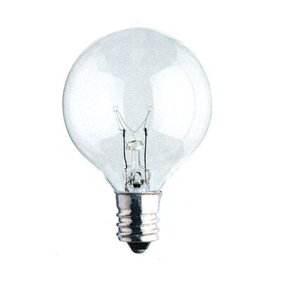 Candelabra (3000K) Light Bulb (Pack of 10) (Set of 2) Bulb Type: 40W G16.5 Candelabra Base