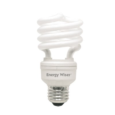Compact Fluorescent Light Bulb (Set of 7) Bulb Temperature: Soft Daylight, Wattage: 18W