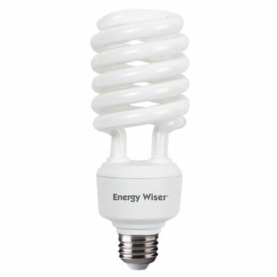 Frosted E26/Medium Compact Fluorescent Light Bulb (Set of 3) Bulb Temperature: 5000K