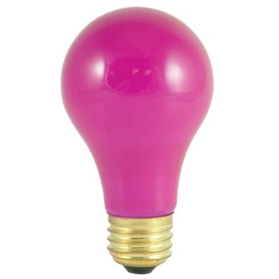 40W Ceramic Pink 120-Volt A19-Light Bulb (Pack of 12) (Set of 2)