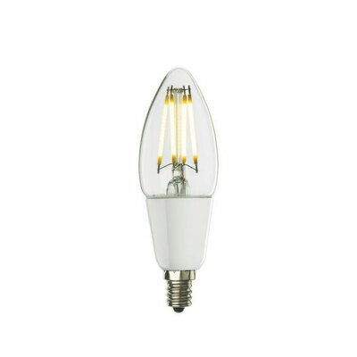 4W 120-Volt LED Chandelier Light Bulb (Set of 3)