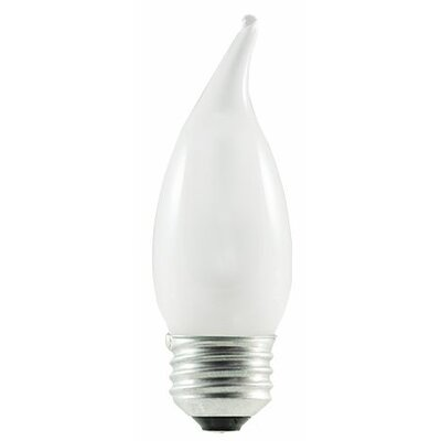 43W (2900K) Frosted Flame Tip CA10 Halogen Light Bulb (Set of 7)