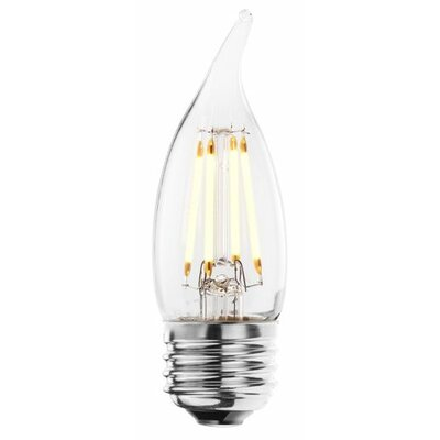 4W (2700K) Flame Tip CA10 LED Chandelier Light Bulb (Set of 5)