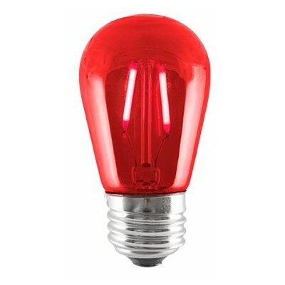 2W Red LED Sign Light Bulb (Set of 5)