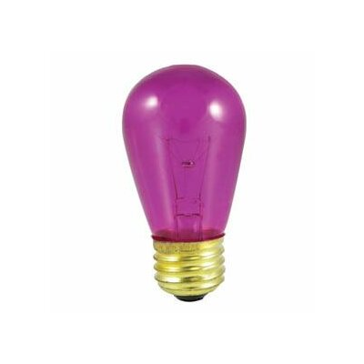 11W Transparent Fuchsia String Replacement Light Bulb (Set of 28)