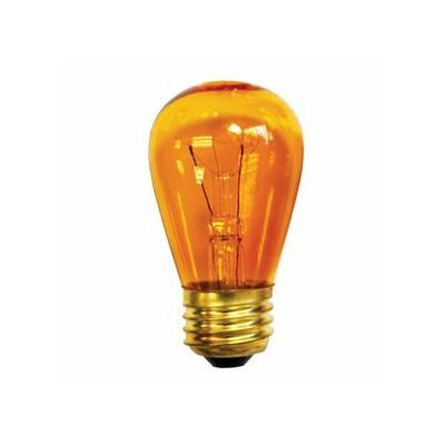 11W Transparent Amber String Replacement Light Bulb (Set of 28)