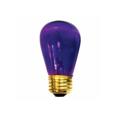 11W Transparent Purple String Replacement Light Bulb (Set of 28)