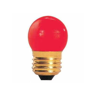 7.5W Red E26 Incandescent Light Bulb (Set of 38)