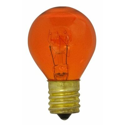 Specialty 10W Transparent Orange String Replacement Light Bulb