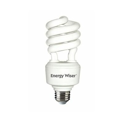 Frosted E26/Medium Compact Fluorescent Light Bulb (Set of 4) Bulb Temperature: 2700K