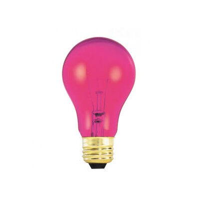 25W Pink 120-Volt Incandescent Light Bulb
